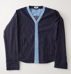 DENIM CARDIGAN INDIGO(DARK)