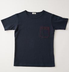 POCKET STITCH CUT SEW SS NAVY